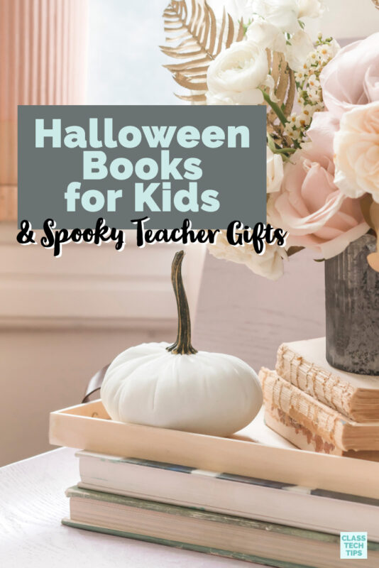 This collection includes favorite Halloween books for kids you can grab in digital and print format. You will also find a few spooky teacher gifts.