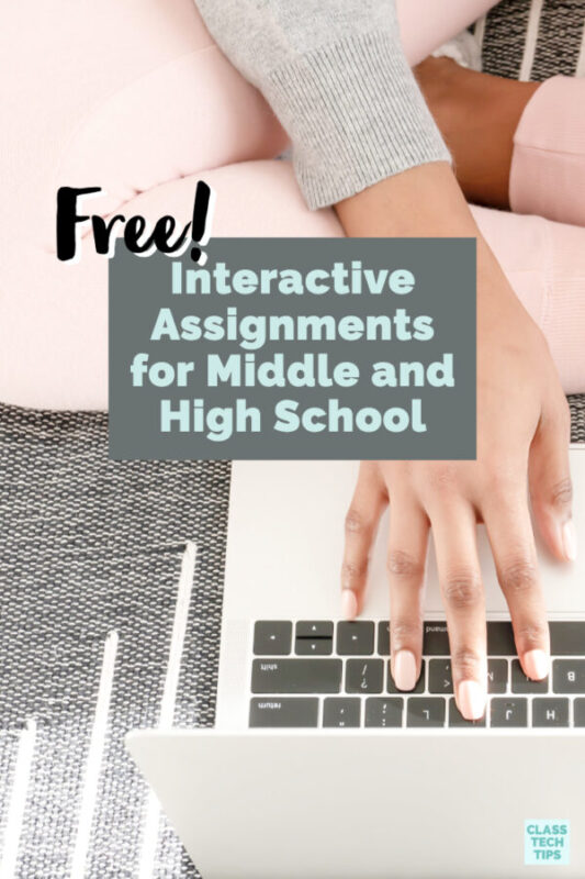 Learn about high-quality, free resources for teachers, including a fantastic platform for interactive assignments for students in middle and high school.