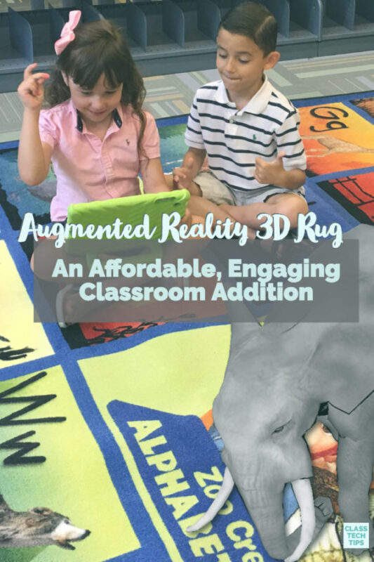 These affordable augmented reality rugs provide a space for students to engage with animals from around the world right in the middle of their classroom.
