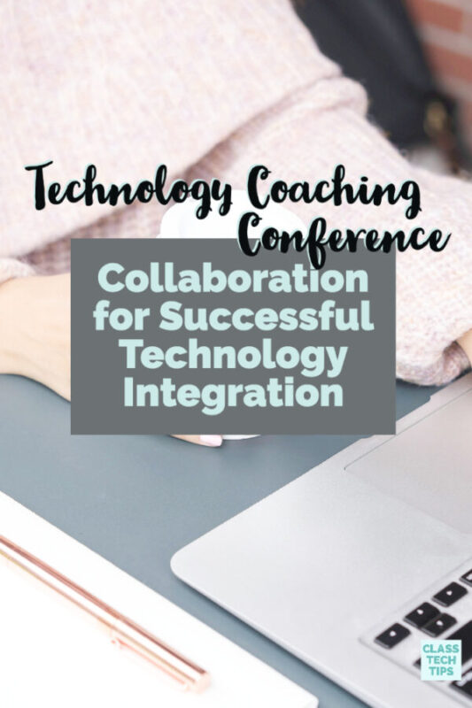 There is a new technology coaching conference open to educators next month that I can't wait to tell you about. It's all about collaboration among professionals!