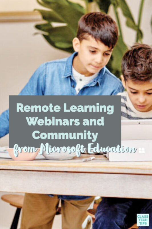 Learn about the remote learning webinars and the remote learning community hosted by Microsoft Education for their global community.