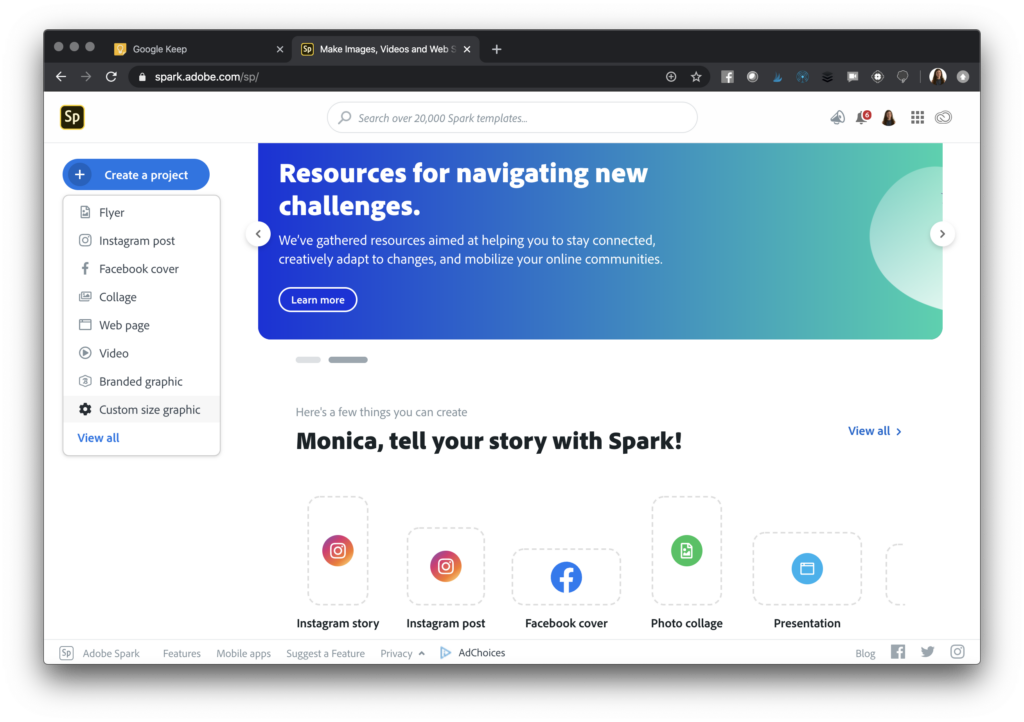 Learn how to make images for Google Keep using Adobe Spark Post. Follow these quick steps for staying organized this school year.