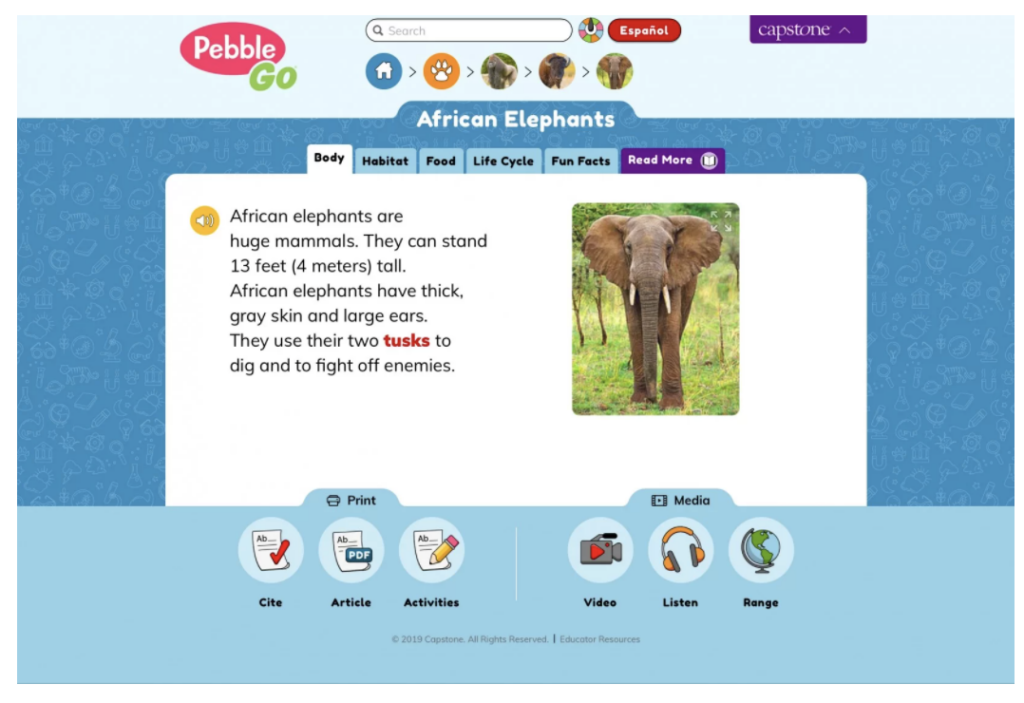 resource for research for elementary school students
