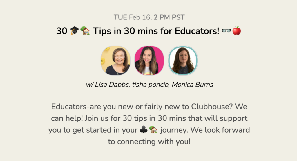 What is Clubhouse? This new social media platform is gaining traction, and it's been exciting to see how many educators are joining in.