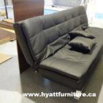 hy-2 fold sofa bed - pu black