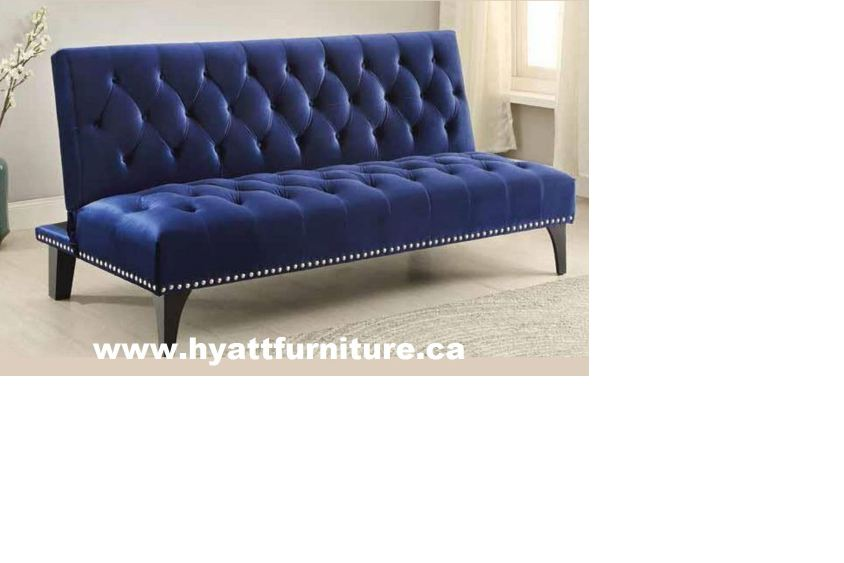 Beautiful Royal Blue Velvet Sofa Bed