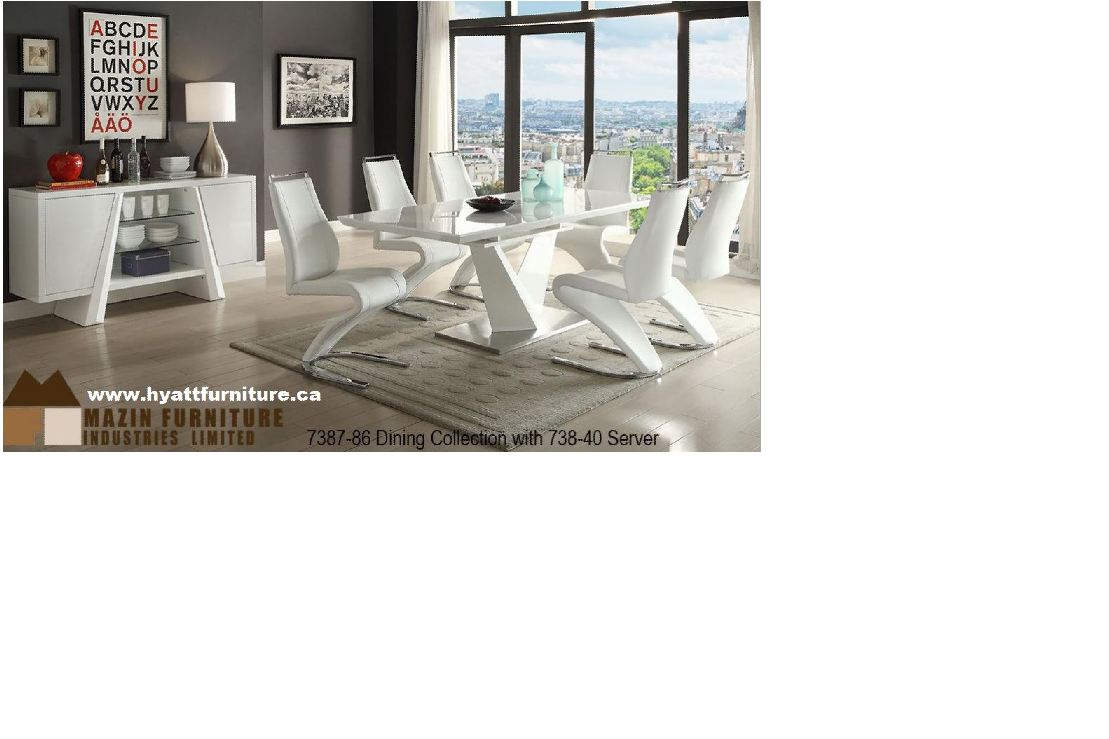 Brand new 7 pcs Elegant Lacquered Dining set