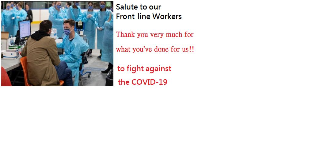 Thanks to our Front line Workers
