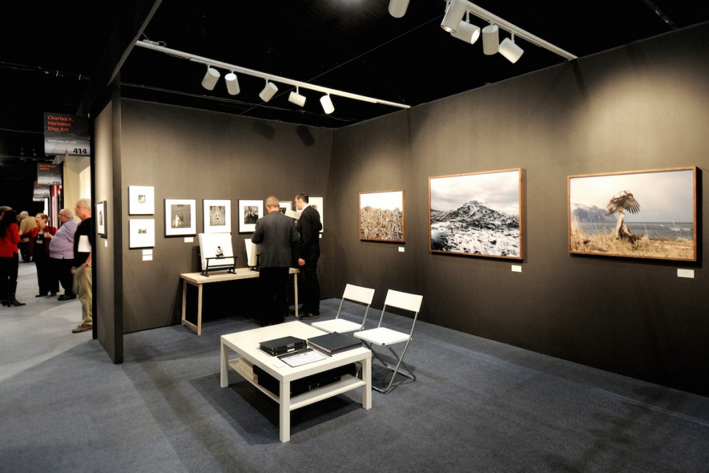 "U.K. based James Hyman Gallery featured three large format photographs by Corey Arnold, part-time photographer and part-time commercial fisherman from Portland, Oregon and Alaska. His life's work is an ongoing series documenting the commercial fishing lifestyle worldwide. From left to right are his images ""Unalaskan Juvenile,"" ""Wake and Sea,"" and ""Crab Line""."