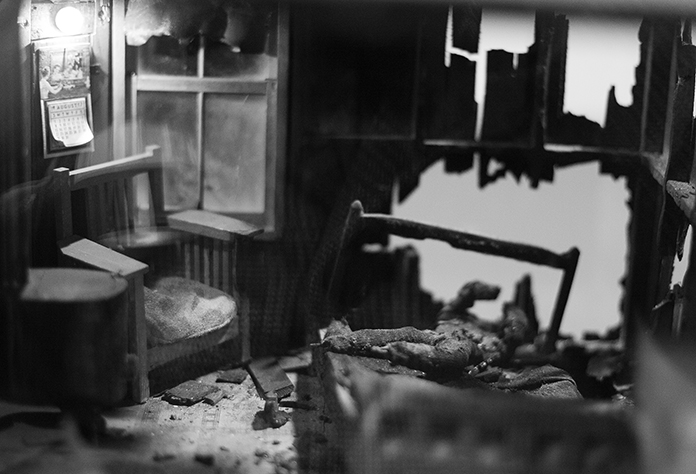 Frances Glessner Lee, Nutshell Studies of Unexplained Death, detail 6, Photograph by Kristine Thompson