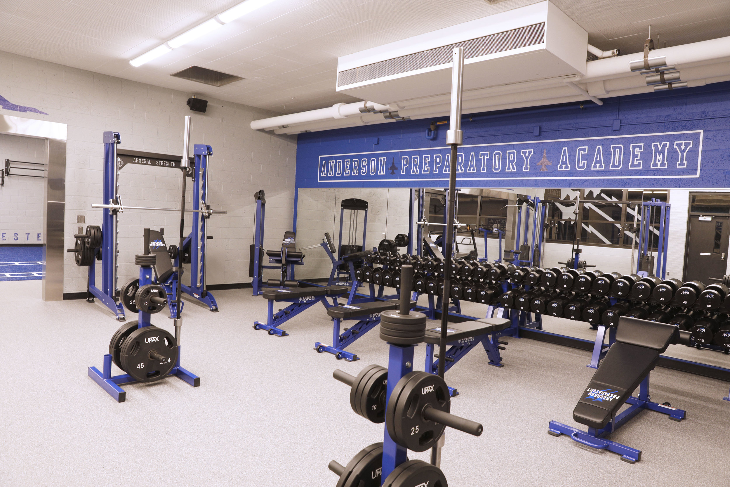 Anderson Prepatory Academy Gym Design by Arsenal Strength