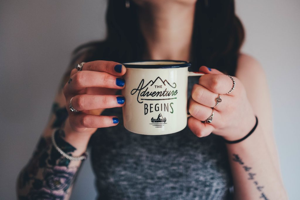 TATTOO Woman Cup of Coffee