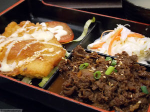 Bento Box at food court in Singapore