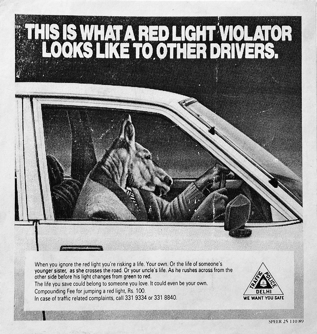Delhi Traffic Police Ad Campaign by Speer Communications, in 1989