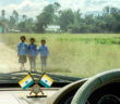 Kids going to school, in Wangjing Kendra, Manipur