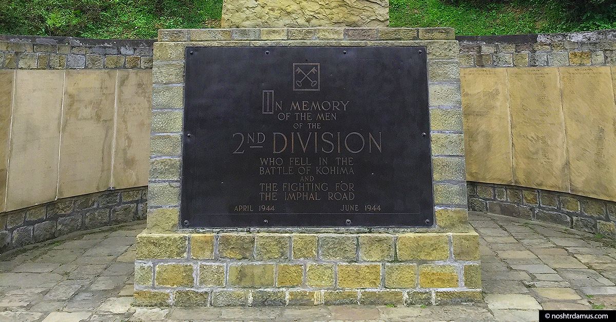 Kohima War Cemetary - In memory of the men of the 2nd Division