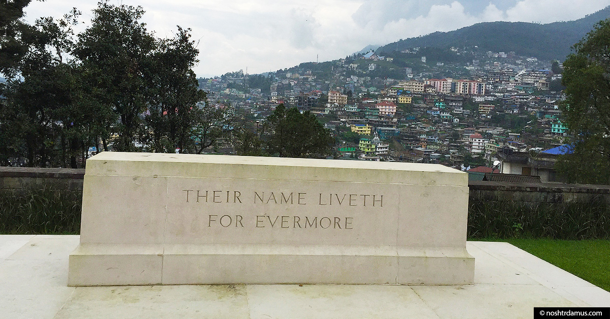Kohima War Cemetary - Their Name Liveth For Evermore