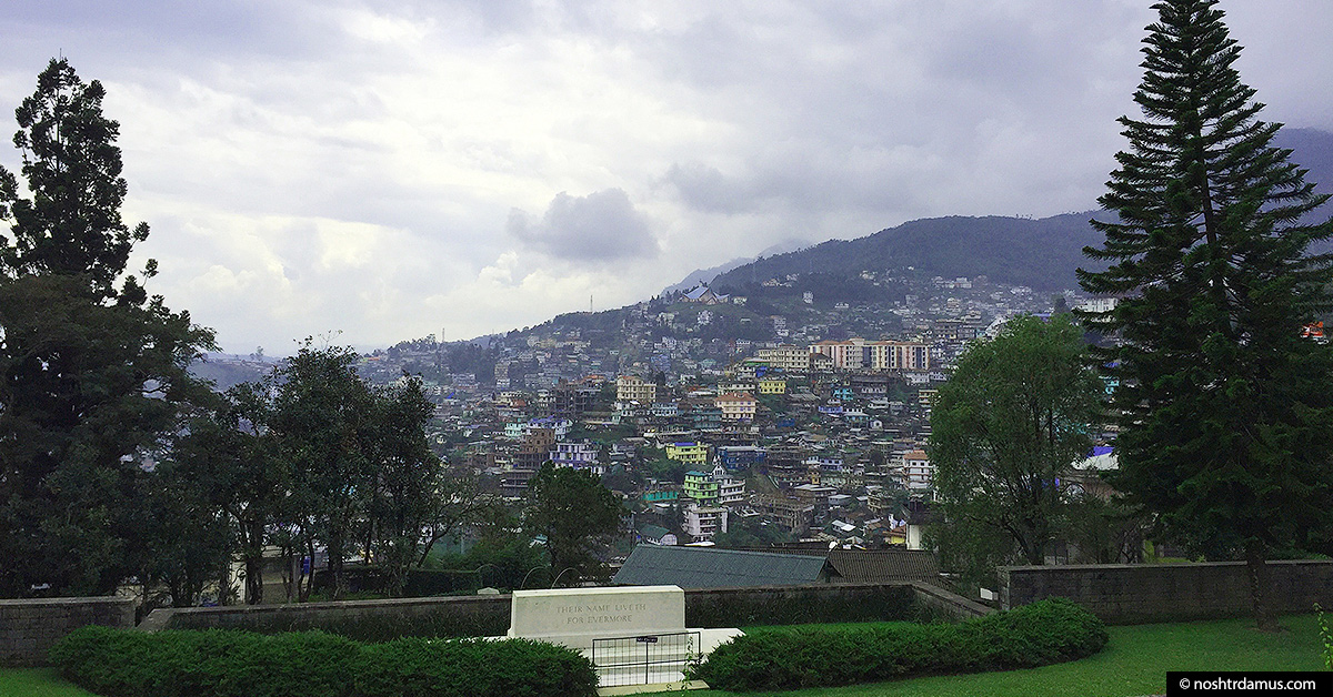 Kohima War Cemetary overlooking the city
