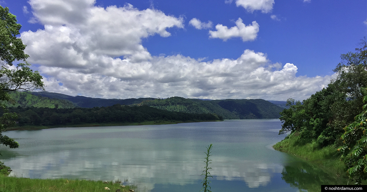 Lakeside view of Umiam Lake, aka Bara Paani, in Meghalaya