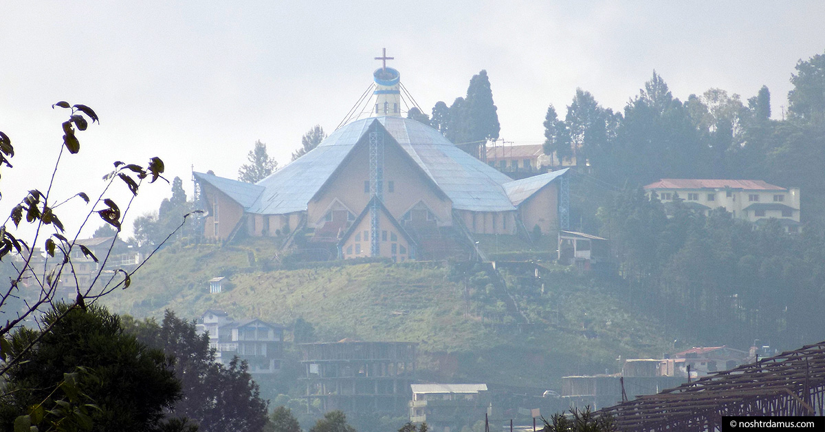 The Catholic Cathedral in Kohima, Nagaland