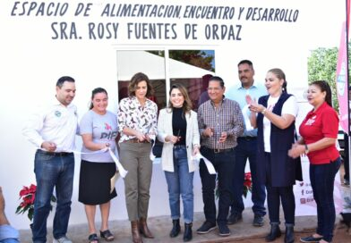 Inauguran Espacio de Alimentación con el nombre de Rosy Fuentes de Ordaz