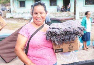 Llegan apoyos invernales a la sierra de El Rosario
