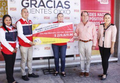 Donan más de 229 mil pesos en redondeo Oxxo para Cruz Roja Angostura