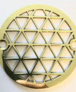 "Geometric Triangles™ |3.25"" Replacement For Oatey 42211, Sioux Chief, polished brass"