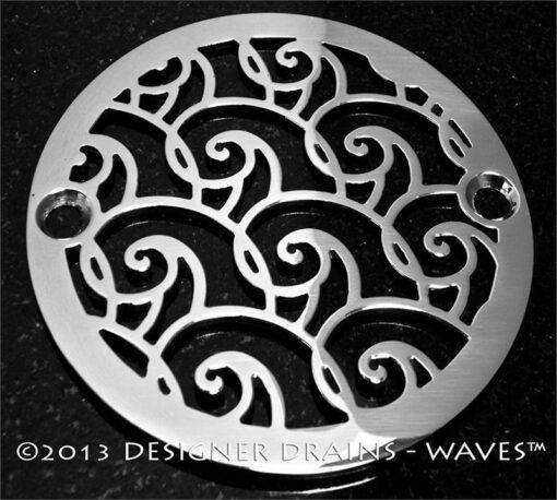 waves design shower drain 3.25 inch diameter