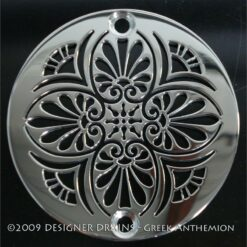 Greek Anthemion 3.25 inch shower drain