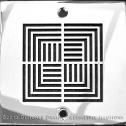 Geometric Series - Square Decorative Shower Drains