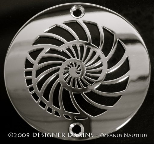 4 Inch Round nautilus Shower Drain Cover