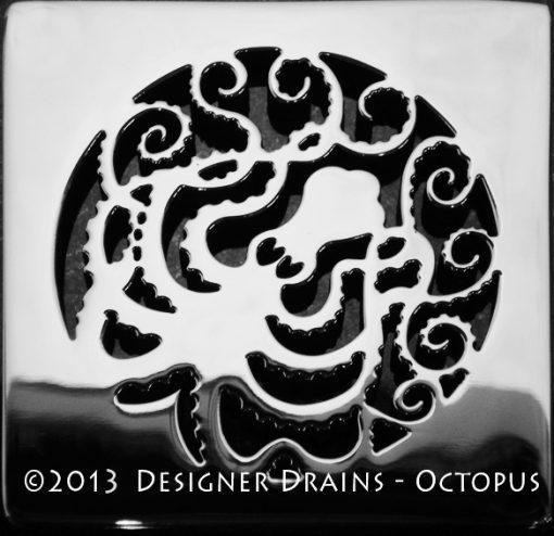 octopus square shower drain