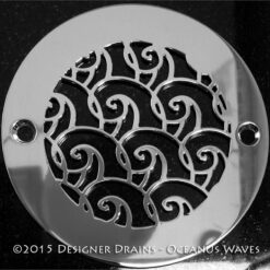Ocean waves shower drains