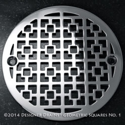 "Geometric Squares No. 1™ |3.25"" Round Shower Drains"