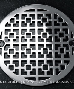 "Geometric Squares No. 1™ |3.25"" Round Shower Drains"