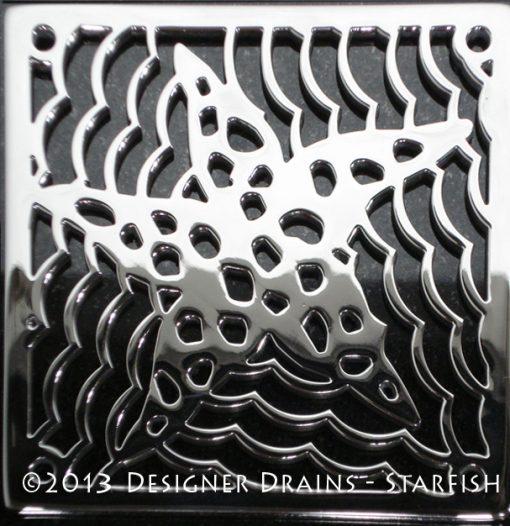 Star fish shower drain by designer drains