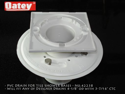"""Oatey PVC, 4.1875"""" Square with 3-3/8""""CTC"""