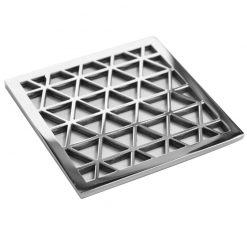Geometric triangles shower drain