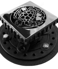 EBBE Drain - Square Shower Drain - Cast Iron Drain Assembly - Designer Drains Shower Drain Replacement For EBBE Drains - Caretta