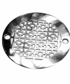 4 Inch Round Shower Drain Cover | Geometric Squares No. 1™