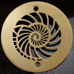 4 inch brushed bronze nautilus shower drain