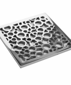 EBBE Square Shower Drain Replacement Bubbles Design Drain Cover.