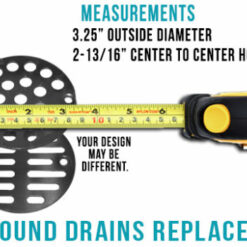 "3.25"" Round Drain Replacements - Designer Drains"
