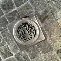 3.25 Octopus shower drain installed