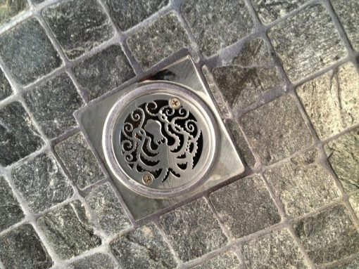 3.25 Octopus shower drain installed