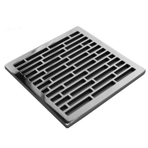 EBBE Drains Replacement Square Drain Cover - Roman Bricks Square Shower Drain