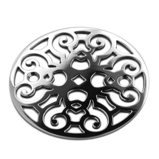 Classic scrolls no.4 polished stainless, 3.25 inches in diameter