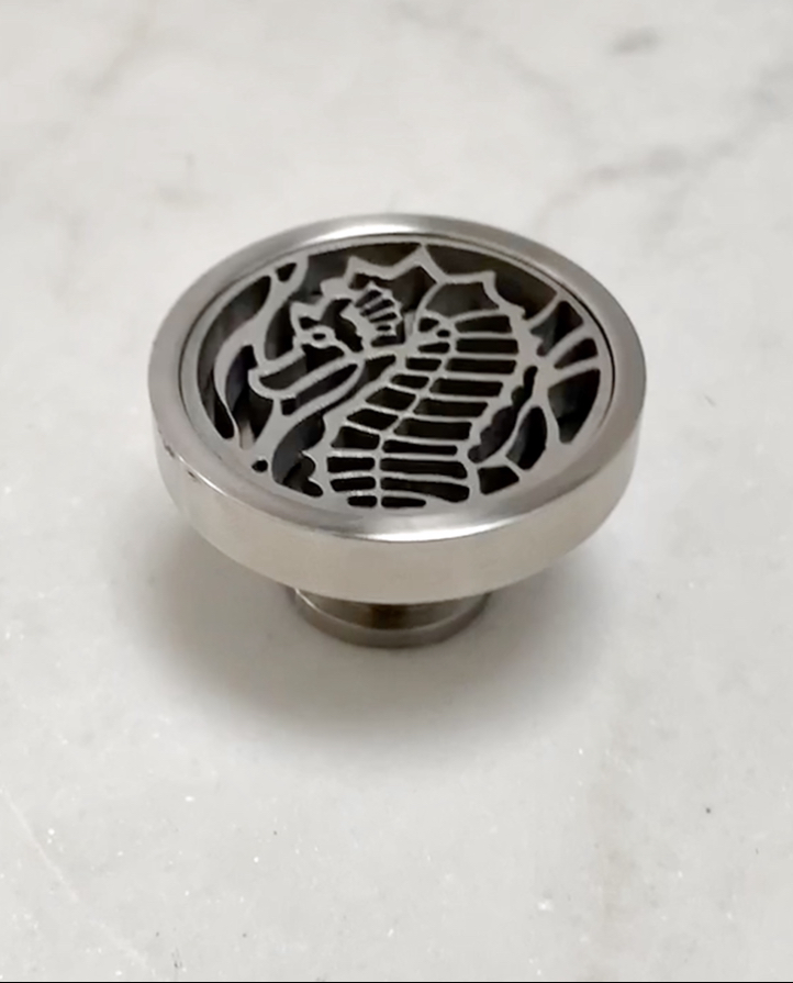 SeaHorse Cabinet Hardware   Designer Drains