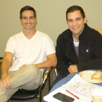 With Edvin Ortega, fellow costar of the commercial